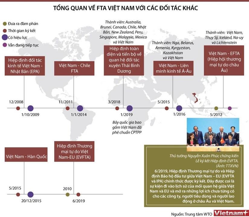 [Infographics] Tong quan ve FTA Viet Nam voi cac doi tac khac hinh anh 1