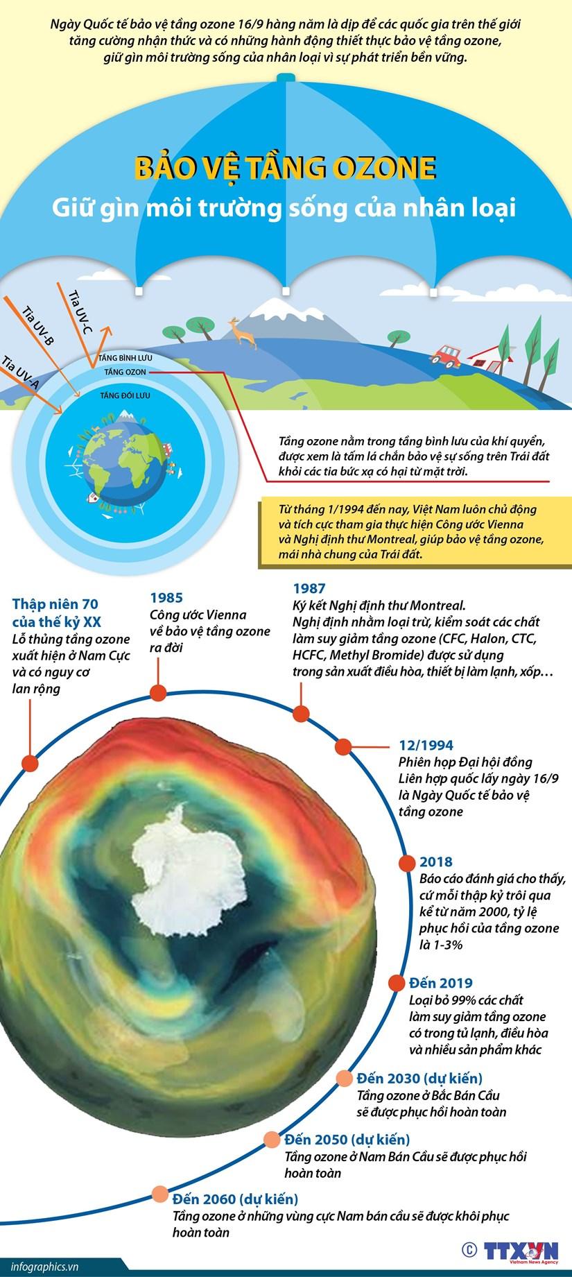 [Infographics] Bao ve tang ozone, giu gin moi truong song hinh anh 1