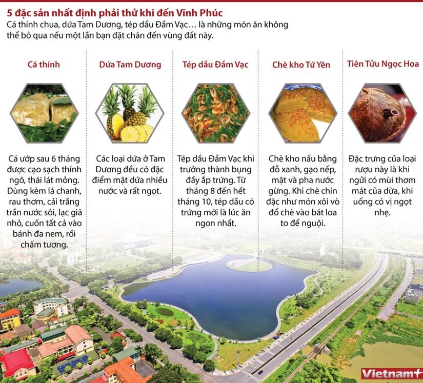 [Infographics] 5 dac san nhat dinh phai thu khi den Vinh Phuc hinh anh 1