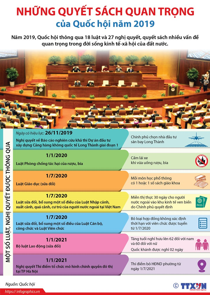[Infographics] Quyet sach quan trong cua Quoc hoi nam 2019 hinh anh 1