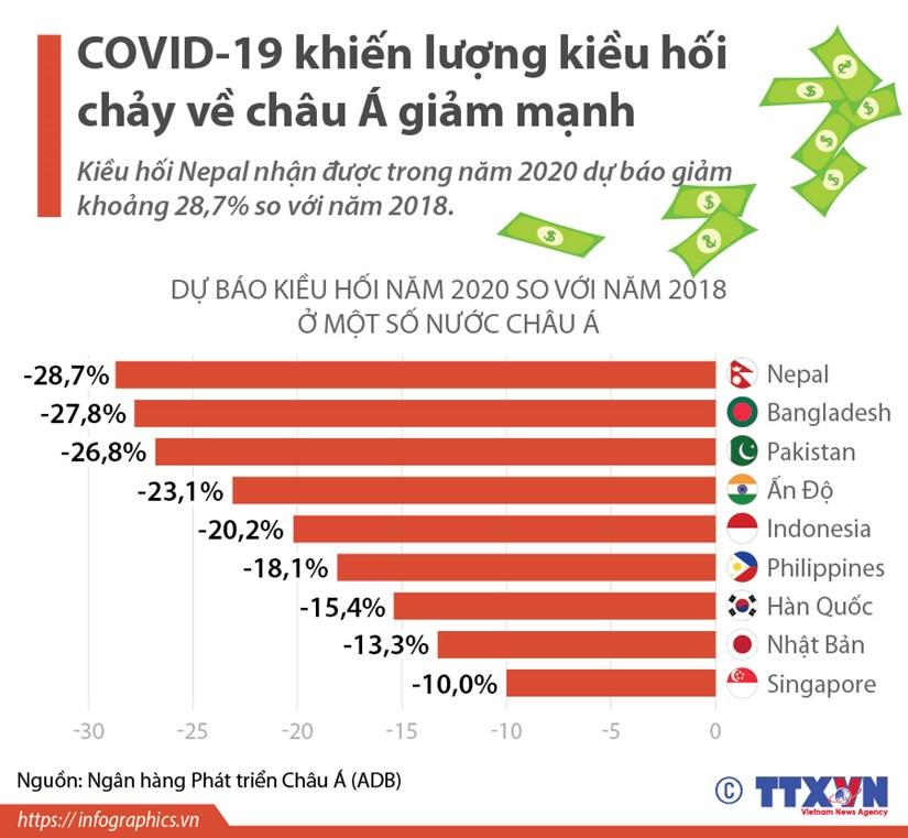 [Infographics] COVID-19 khien luong kieu hoi chay ve chau A giam manh hinh anh 1