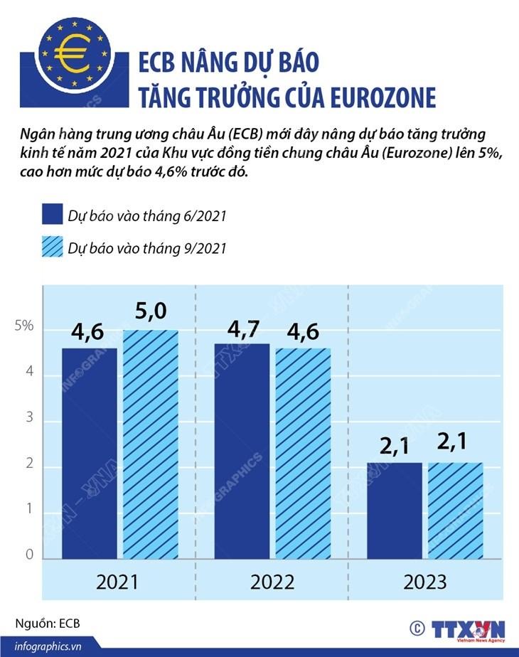 [Infographics] ECB nang du bao tang truong cua khu vuc Eurozone hinh anh 1