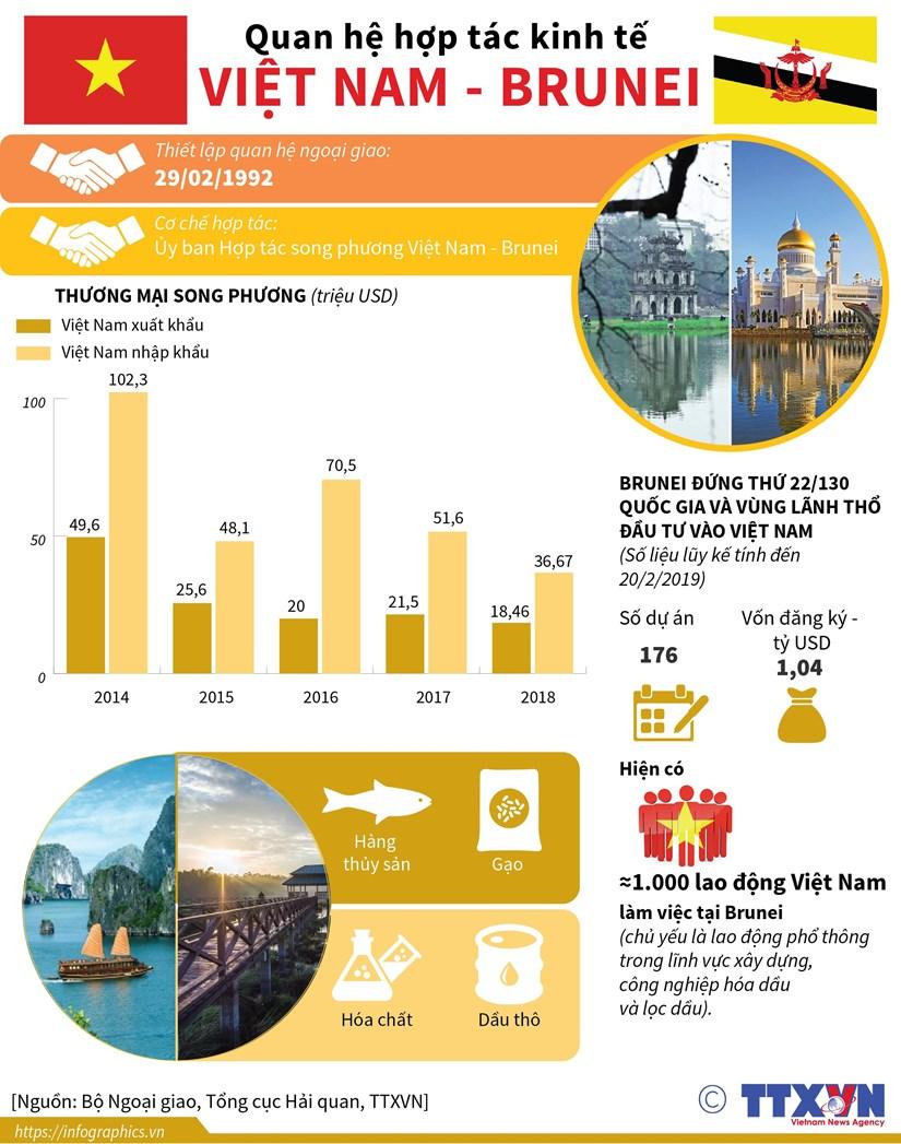 [Infographics] Quan he hop tac kinh te Viet Nam-Brunei hinh anh 1