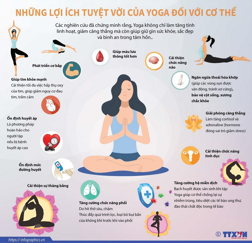 [Infographics] Nhung loi ich tuyet voi cua Yoga doi voi co the hinh anh 1