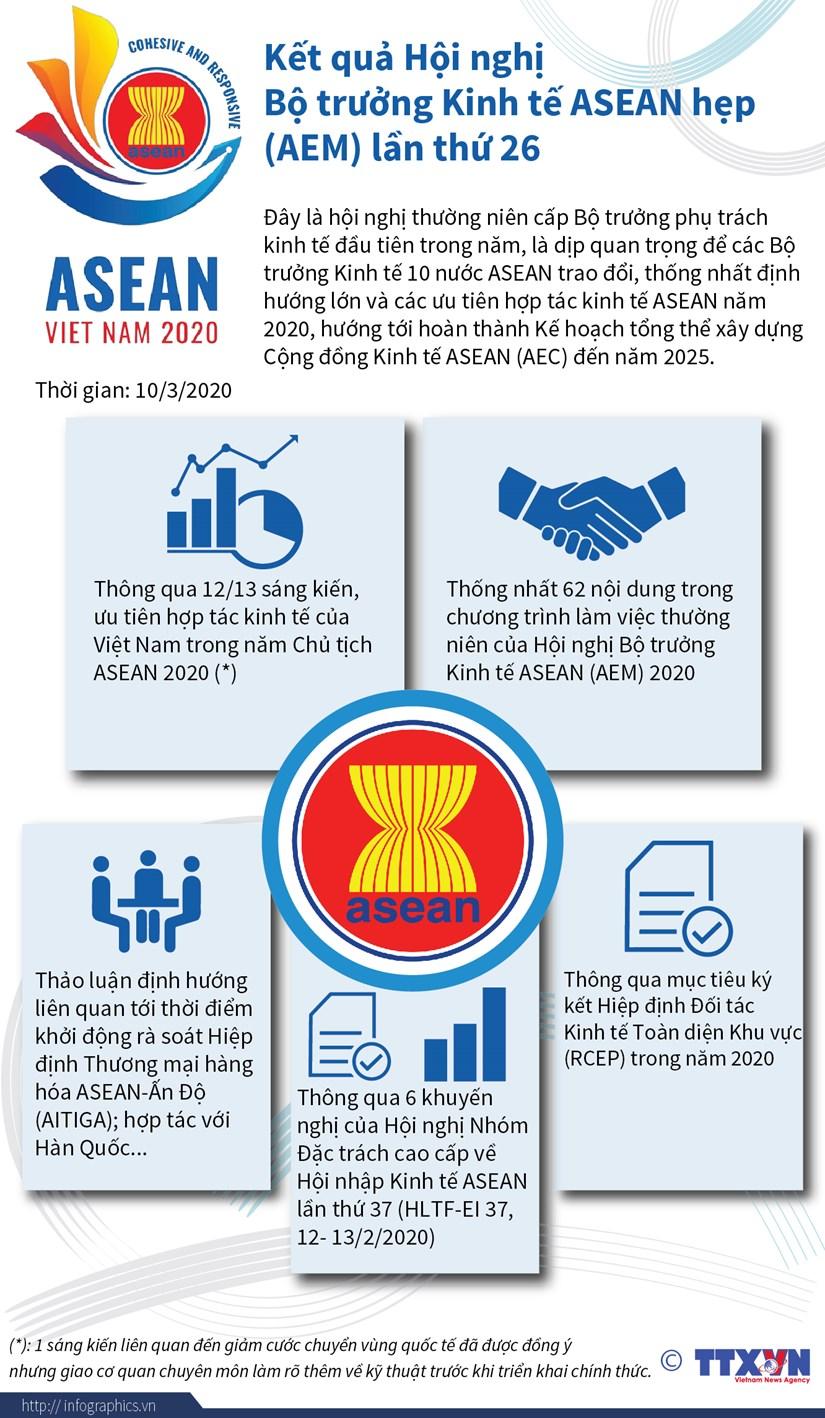 Ket qua Hoi nghi Bo truong Kinh te ASEAN hep AEM lan thu 26 hinh anh 1