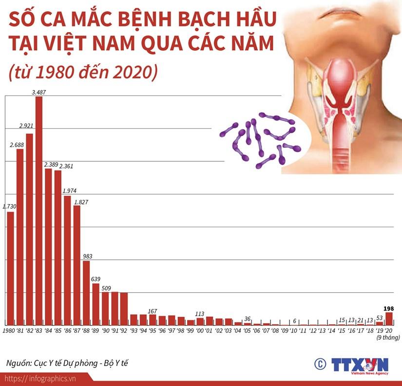 [Infographics] So ca mac benh bach hau tai Viet Nam qua cac nam hinh anh 1