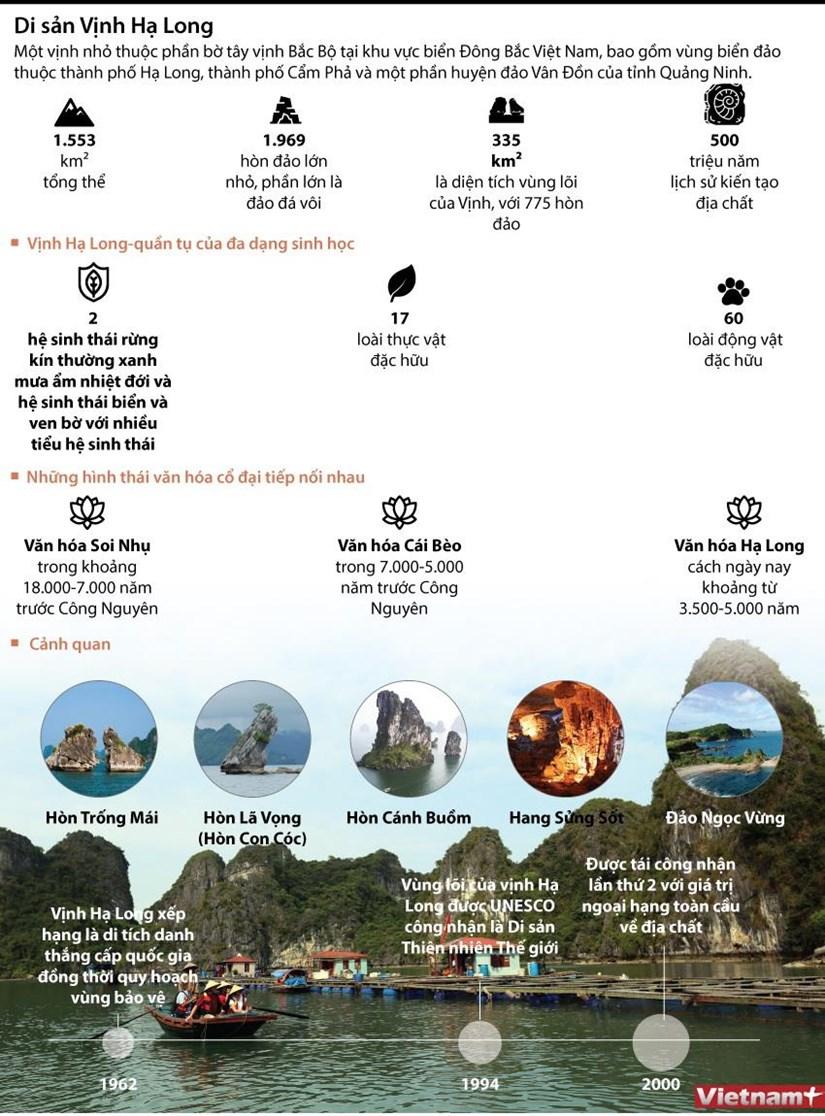 [Infographics] Vinh Ha Long - 2 lan duoc cong nhan la Di san the gioi hinh anh 1