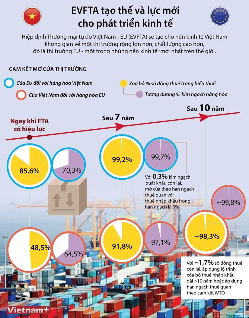 [Infographics] EVFTA tao the va luc moi cho phat trien kinh te hinh anh 1