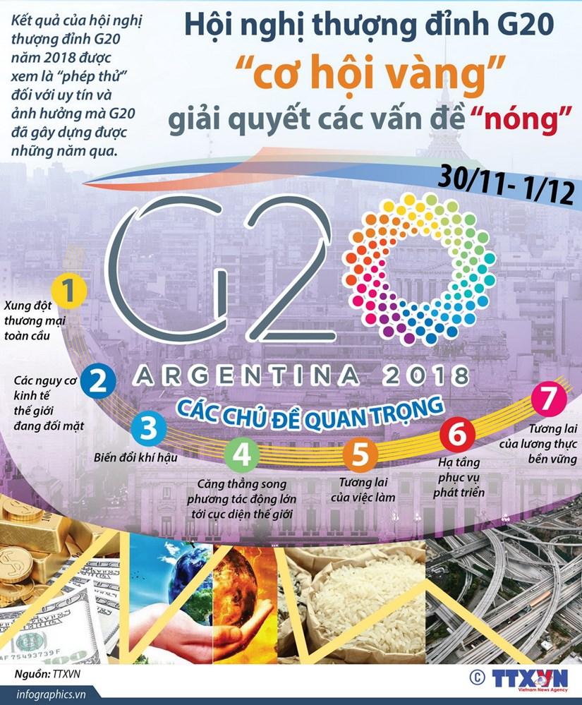 "[Infographics] Hoi nghi G20 - ""co hoi vang"" giai quyet cac van de nong hinh anh 1"