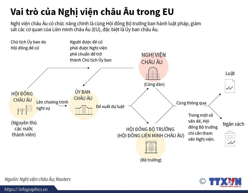 [Infographics] Tim hieu vai tro cua Nghi vien chau Au trong EU hinh anh 1