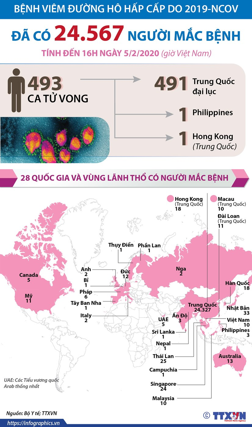 [Infographics] The gioi da co 24.567 nguoi mac benh do virus corona hinh anh 1