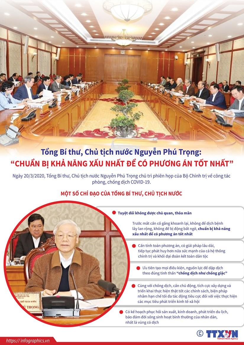 [Infographics] Chi dao cua Tong Bi thu ve phong, chong dich COVID-19 hinh anh 1