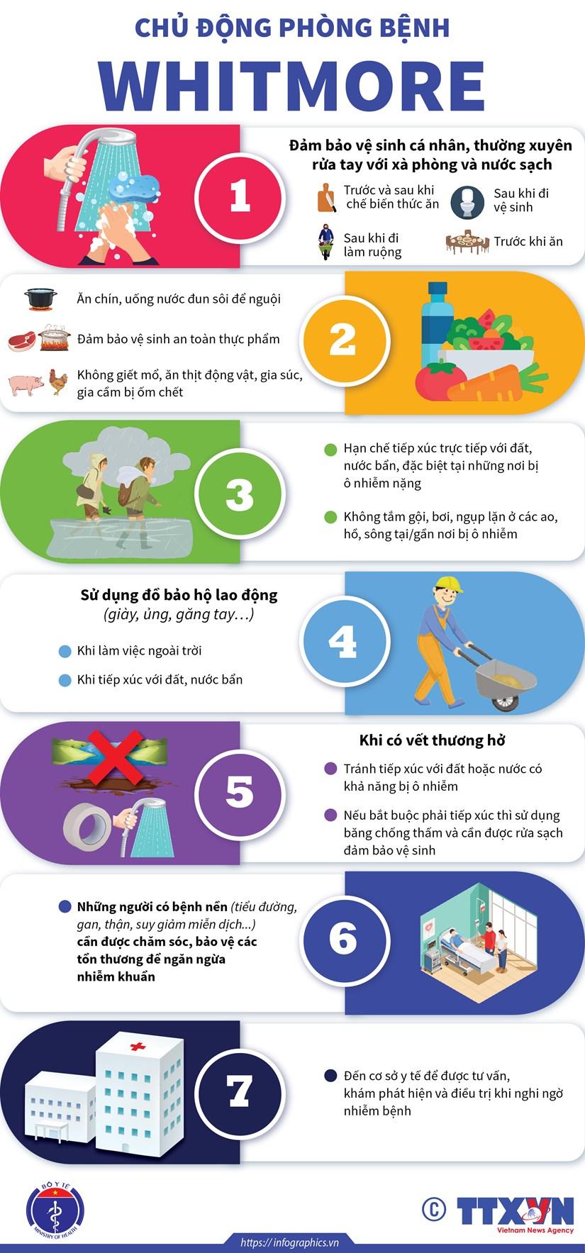[Infographics] Huong dan cach phong ngua can benh nguy hiem Whitmore hinh anh 1