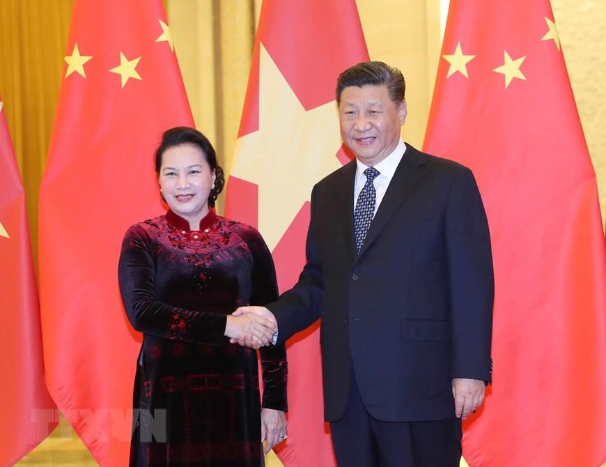 [ẢNH] Chủ tịch Quốc hội hội kiến với các nhà lãnh đạo Trung Quốc - 1