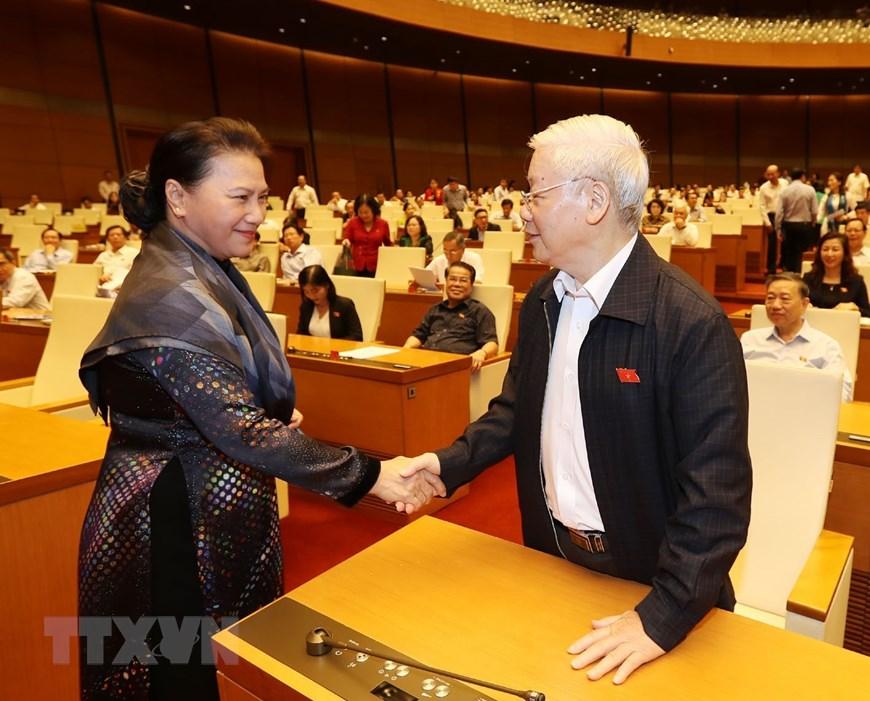 Tổng Bí thư, Chủ tịch nước Nguyễn Phú Trọng dự phiên chất vấn - Ảnh 1.
