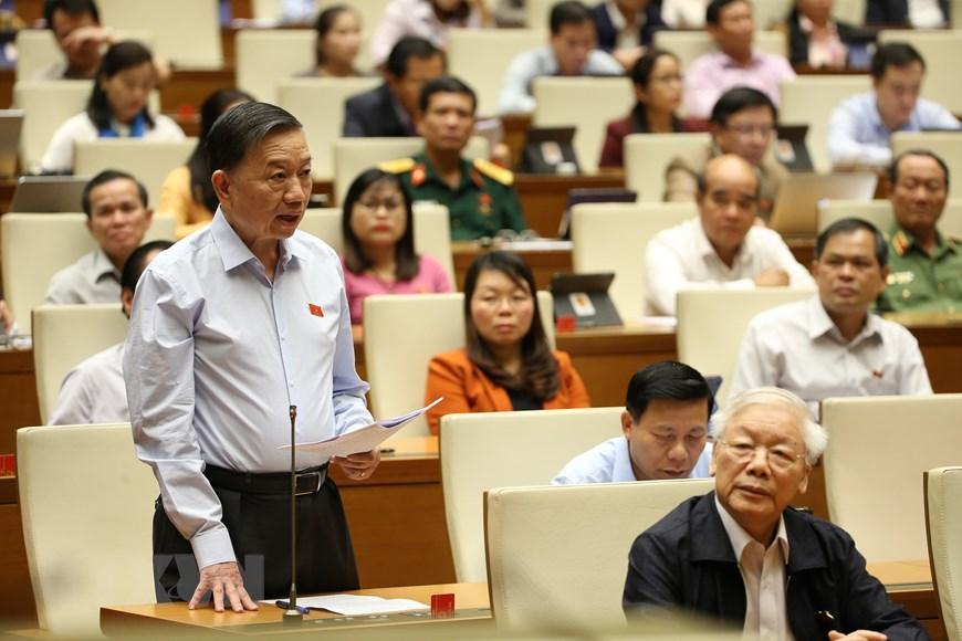 Tổng Bí thư, Chủ tịch nước Nguyễn Phú Trọng tại phiên chất vấn chiều 8/11. (Ảnh: Trí Dũng/TTXVN)