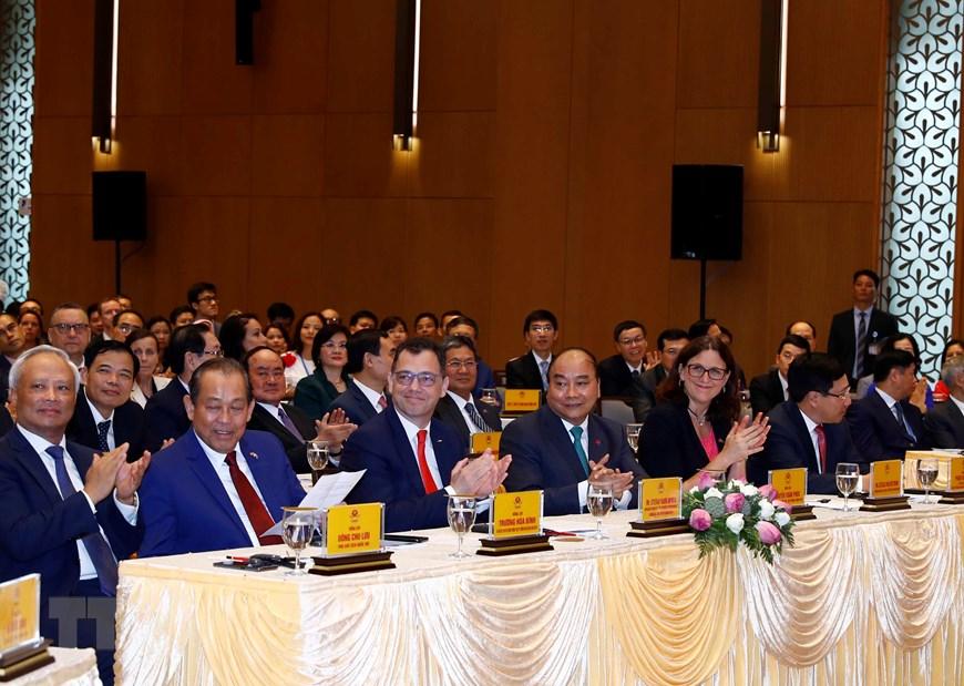 Hình ảnh Lễ ký EVFTA và EVIPA giữa Việt Nam và Liên minh châu Âu - 7
