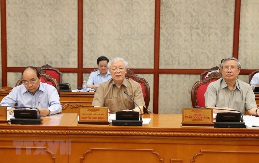 [ẢNH] Tổng Bí thư, Chủ tịch nước chủ trì họp Bộ Chính trị - 3