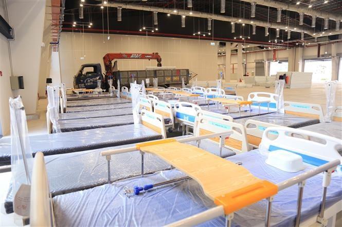 Bình Dương vận hành Bệnh viện dã chiến 500 giường do quân đội hỗ trợ | Y tế | Vietnam+ (VietnamPlus)