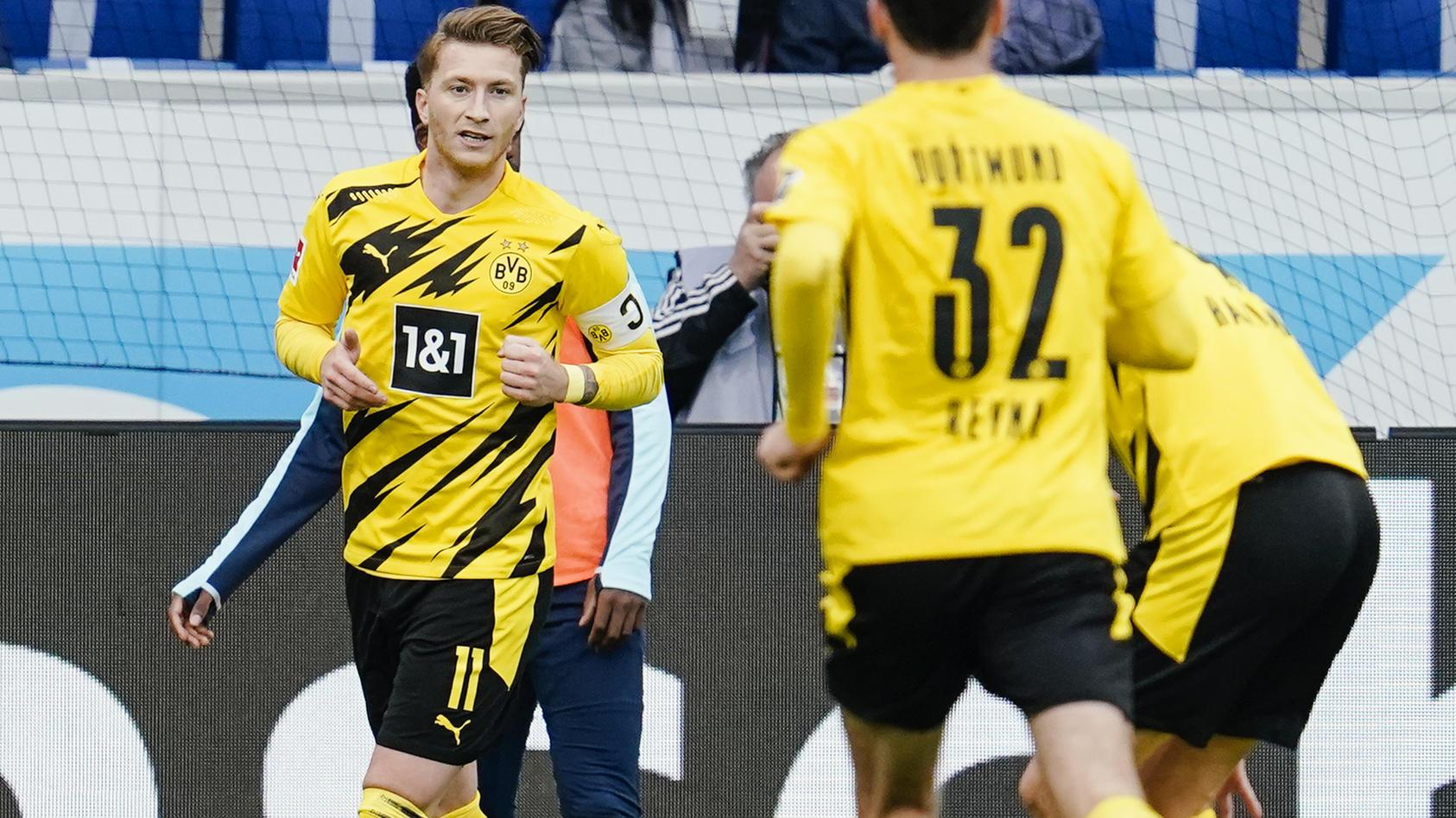 Reus ghi bàn duy nhất giúp Dortmund chiến thắng. (Nguồn: RTL.de)