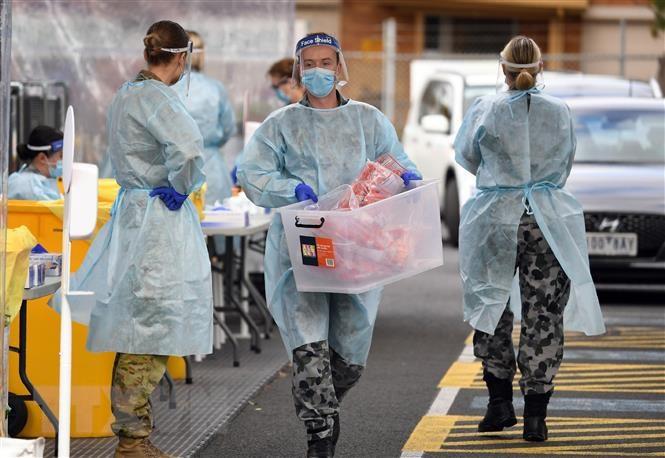 Bang Victoria của Australia ghi nhận số ca nhiễm theo ngày cao nhất | Sức  khỏe | Vietnam+ (VietnamPlus)